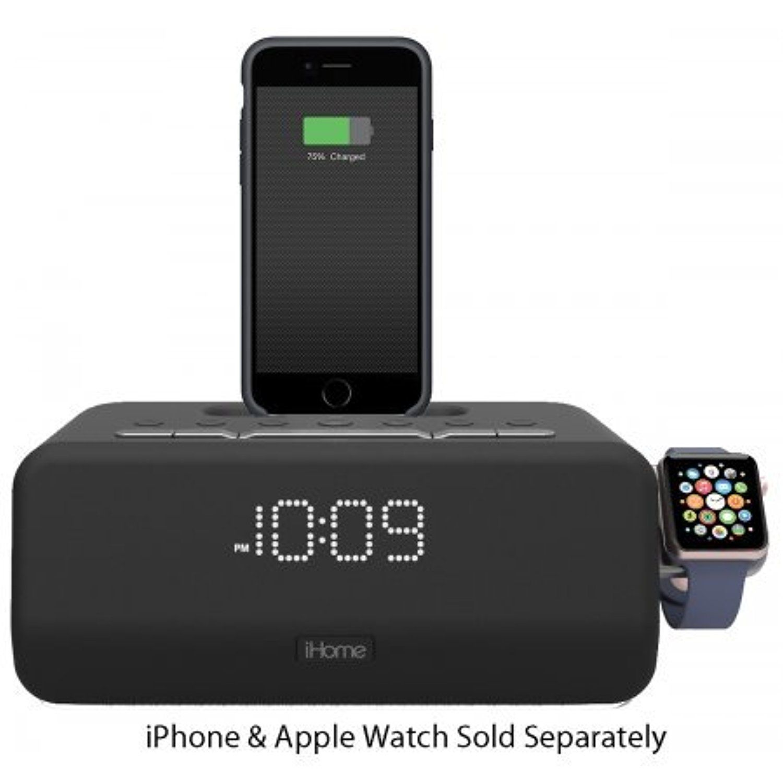 iHome iPLWBT5 Bluetooth Dual Alarm FM Clock Radio w/Speakerphone ...