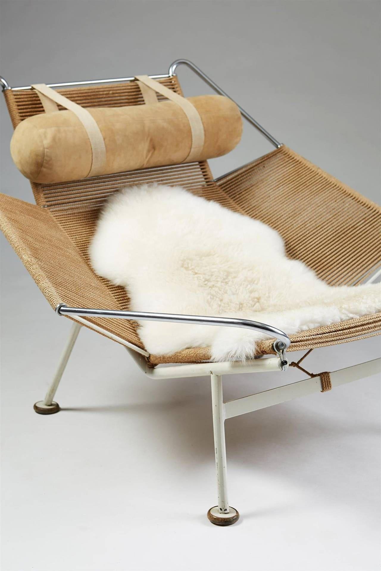 Flag Halyard Chair Designed By Hans Wegner For Getama Denmark 1950 Image 5 Lounge Chair Design Chair Design Furniture Chair