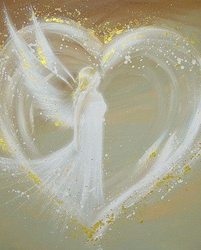 Omezená anděl Umění fotografie způsob, jak ve svém srdci moderním podle HenriettesART