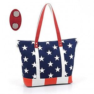 Lady's Star Print Crossbody Tote