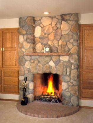 How To Install River Rock On A Fireplace Surround River Rock