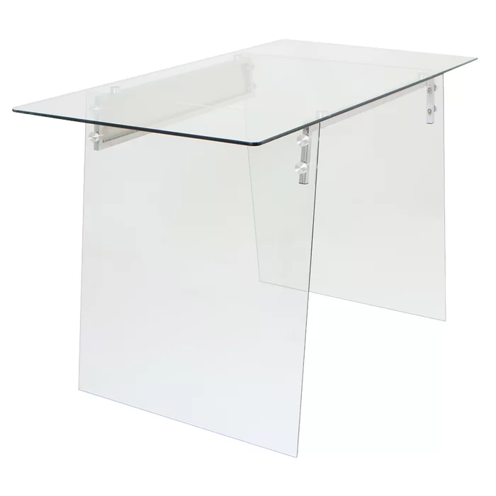 Mestas Glass Writing Desk Furniture Glass Computer Table White Writing Desk