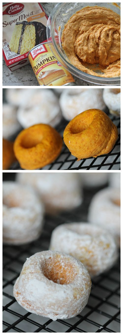 Pumpkin Donuts From Cake Mix 1pkg Yellow Cake Mix 1 Can