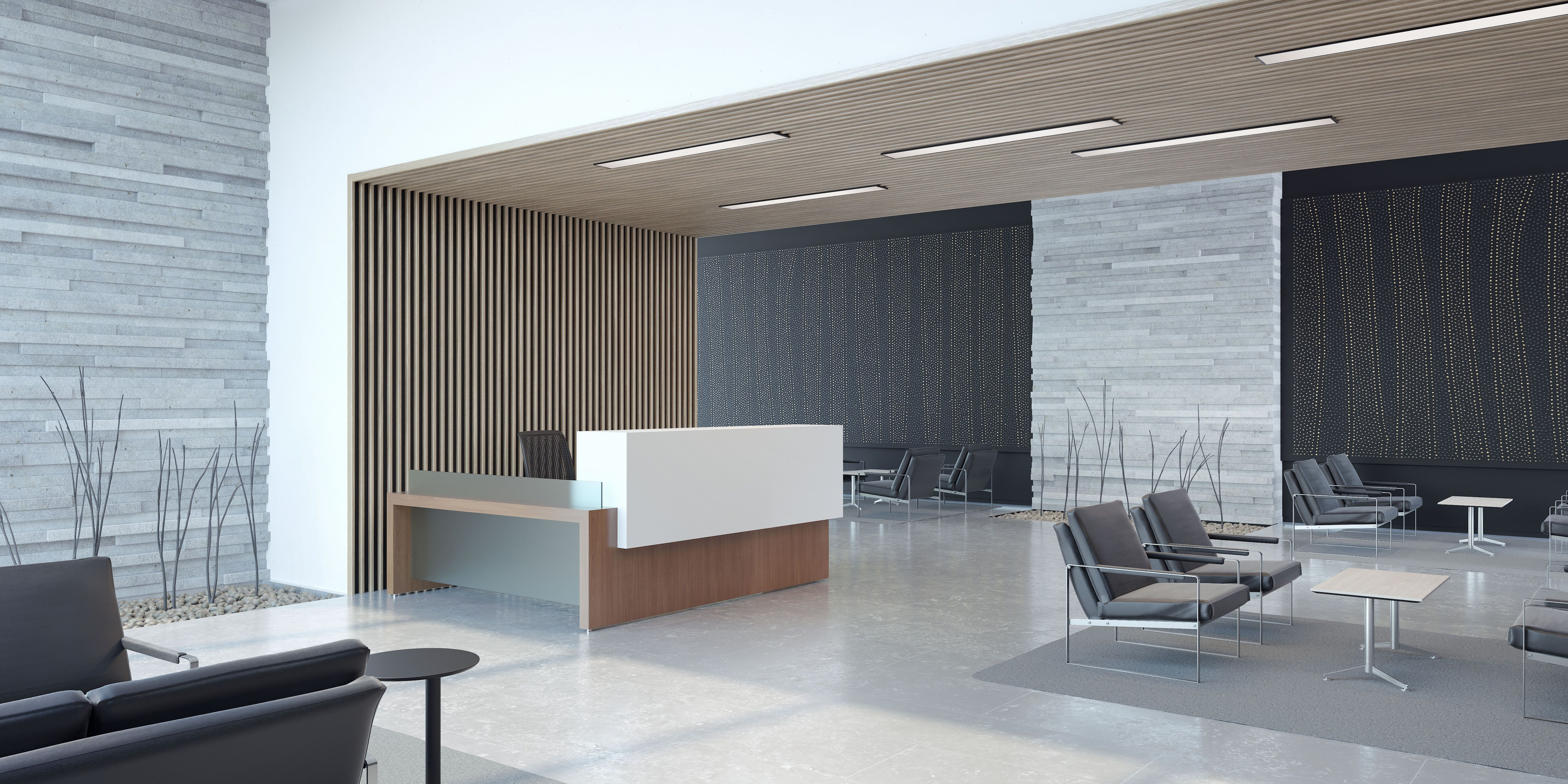 Homey Office Waiting Area