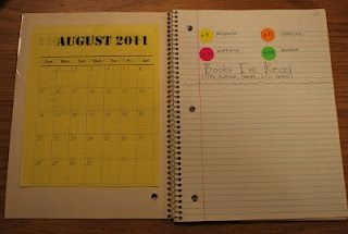 reader's notebooks (geared for middle school, but could tweak) via wordfromthecorner.  (show this to marcy)