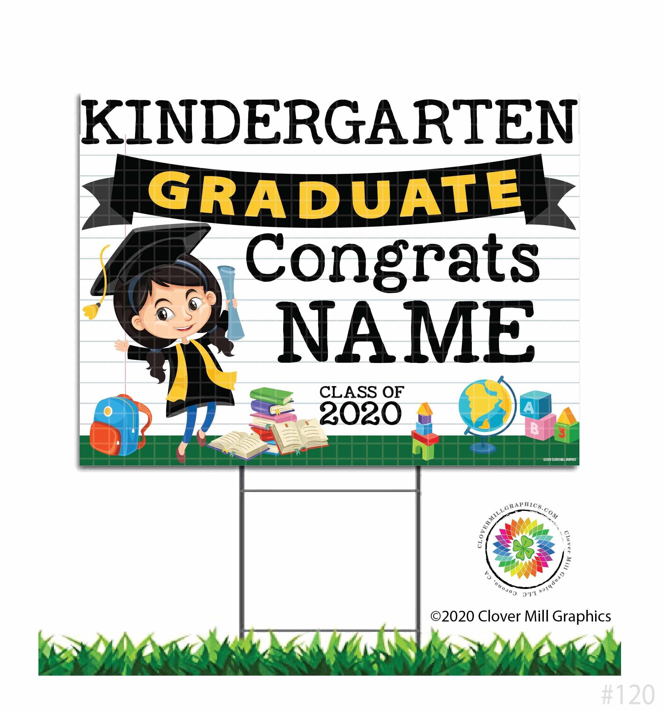 Kindergarten Preschool Graduation Customizable Class Of 2021 Etsy Kindergarten Graduation Graduation Yard Signs Kindergarten [ 2439 x 2283 Pixel ]