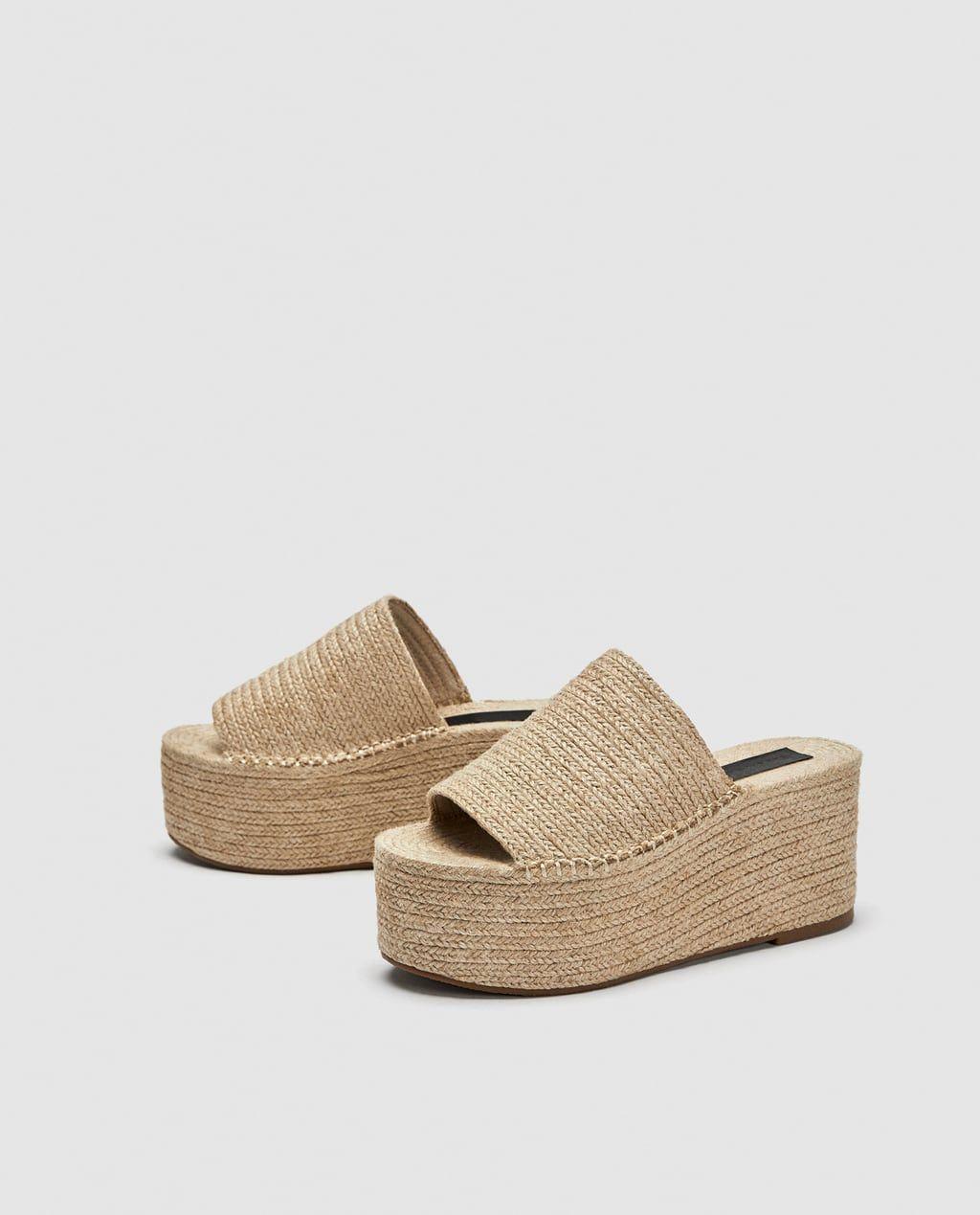 829bf5c5eb573b 40e Imagen 3 de SANDALIA PLATAFORMA YUTE de Zara | Summer | Sandals ...