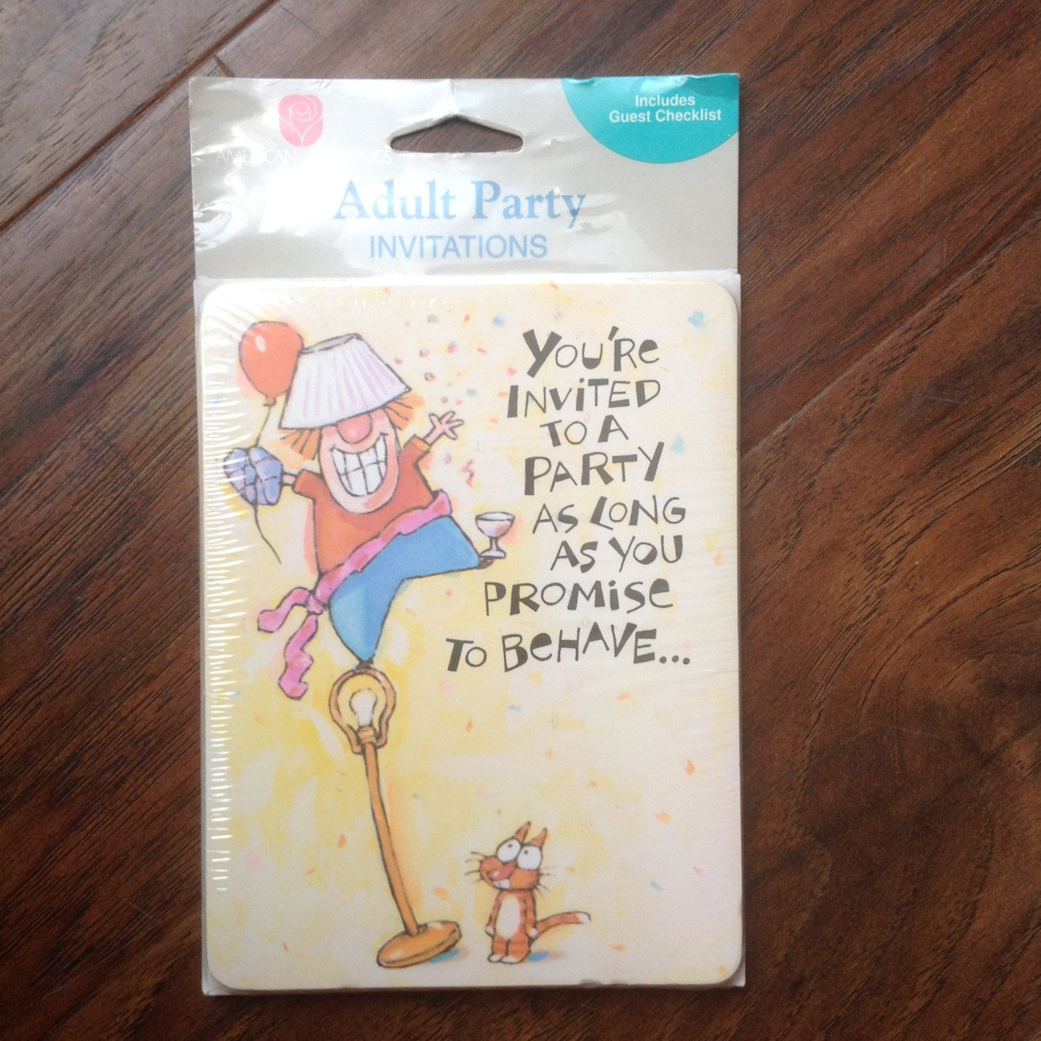 Vintage party invitations party invites american greetings adult vintage american greetings adult party invitations nos sealed 8 cards envelopes in collectibles paper vintage greeting cards m4hsunfo