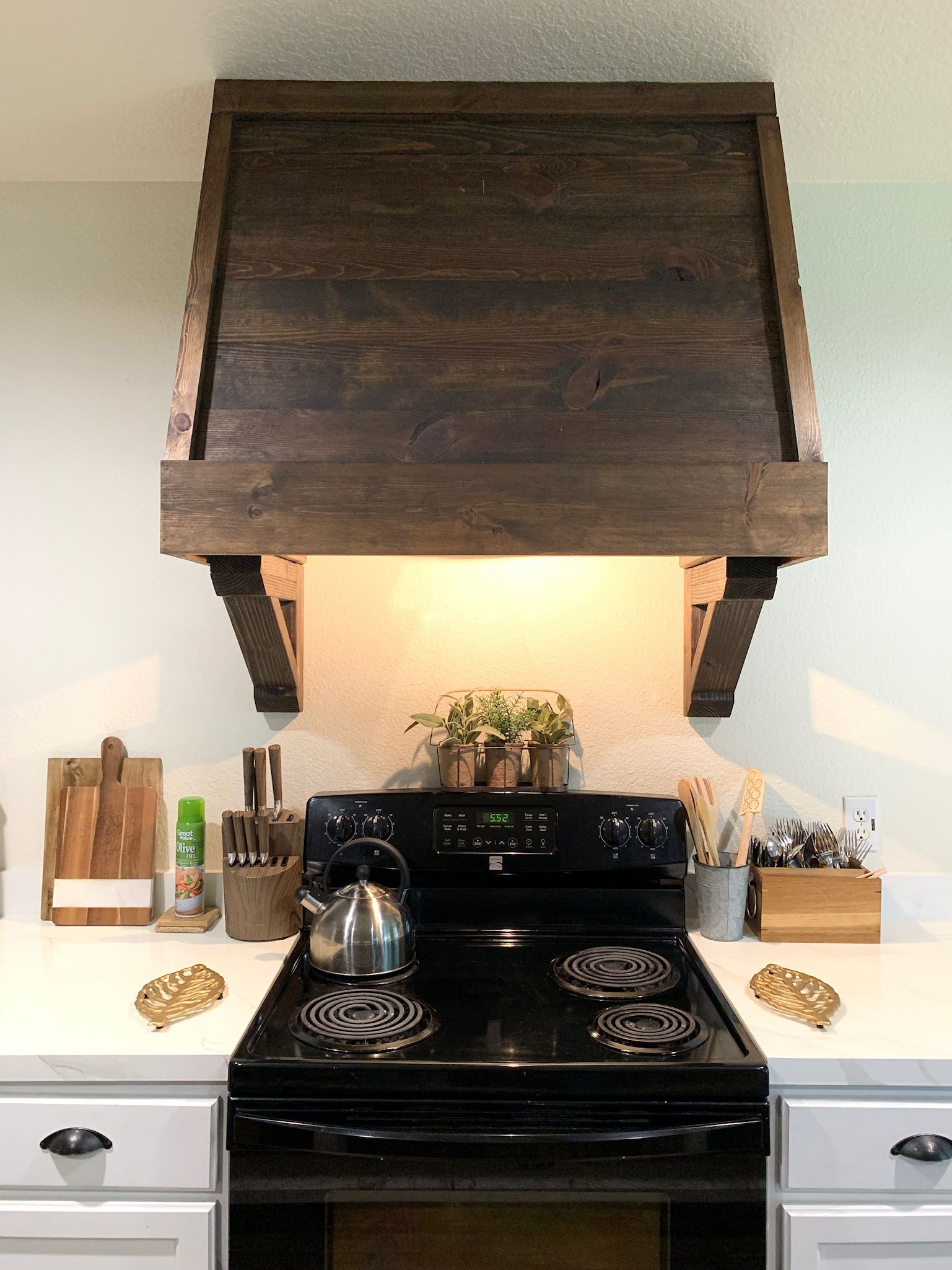 Diy rustic vent hood cover with images hood vent cover