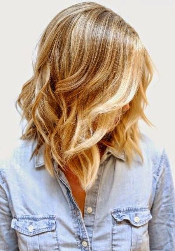 Dare I Do The Long Bob A Natural Looking Beige Blonde Base With Bright Buttery Highlights And Piecey Minimal Layers That Help