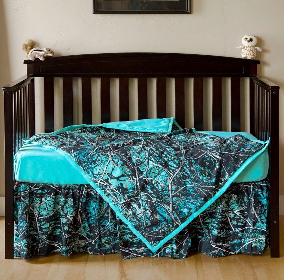 Blue camo crib set in 2020 Crib sets, Crib bedding sets