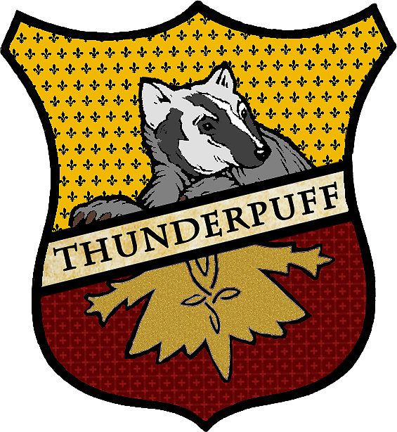 Marvelous Thunderpuff Crest (Hufflepuff/Thunderbird Mix)