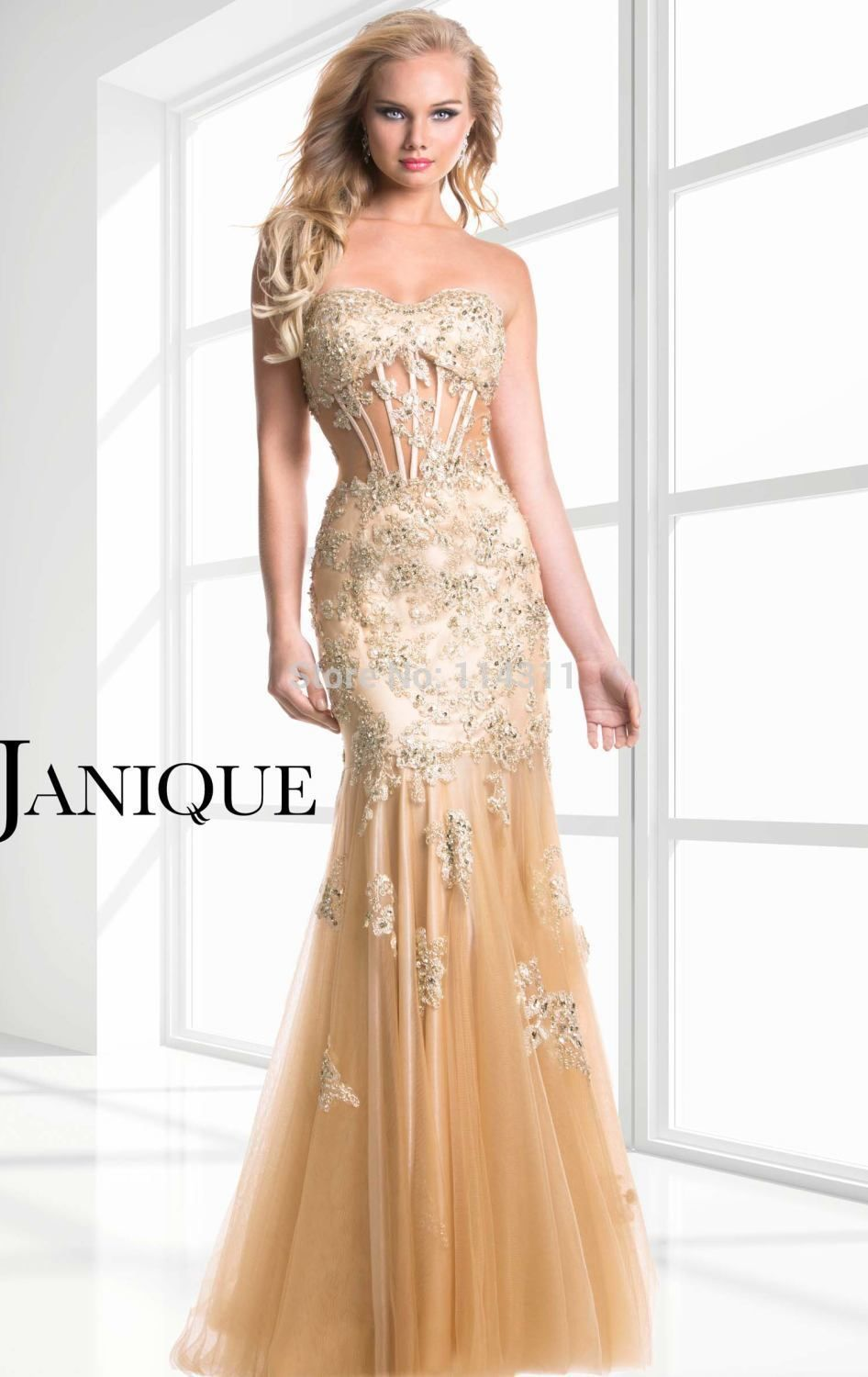 gold formal gown | Champagne Gold Prom Dresses 2016 Sweetheart ...
