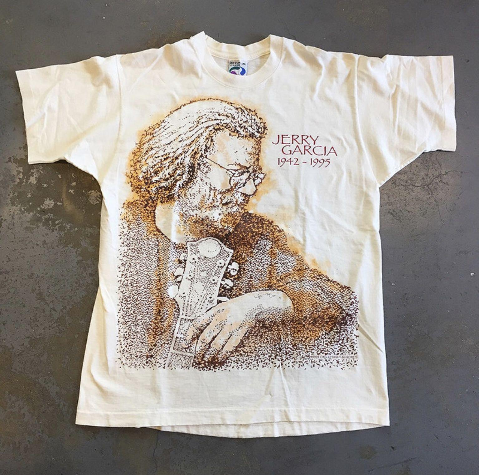 XL Jerry Garcia 1995 rare original vintage tshirt