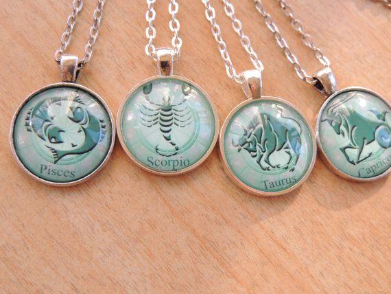 Scorpio Zodiac Necklace Zodiac Signs by pnljewelrydesigns on Etsy, $14.00