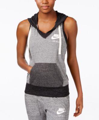 df13d579257ae2 Nike Gym Vintage Colorblocked Sleeveless Hoodie