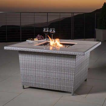 Portofino Comfort™ Laguna Blue Propane Fire Pit Table