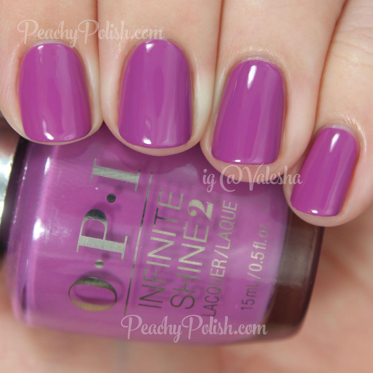 OPI Grape-ly Admired | Infinite Shine Collection | Peachy Polish ...