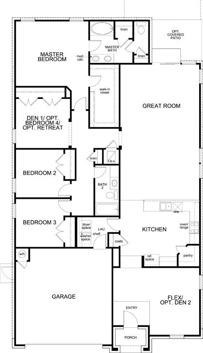 showing first floor of new built-to-order home, plan a-2089