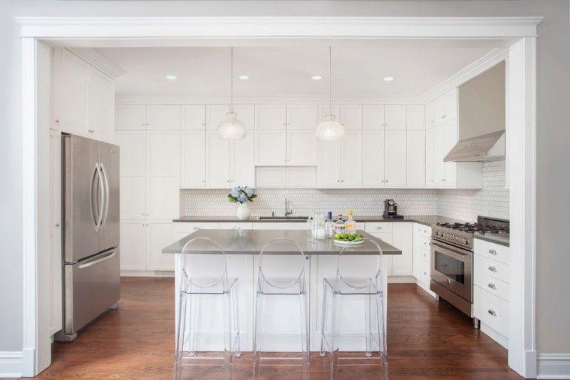 Elegant Grey Quartz Countertop White Kitchen Wood Floor Modern Chairs Cabinets  Storage Lights Of Great Grey Quartz