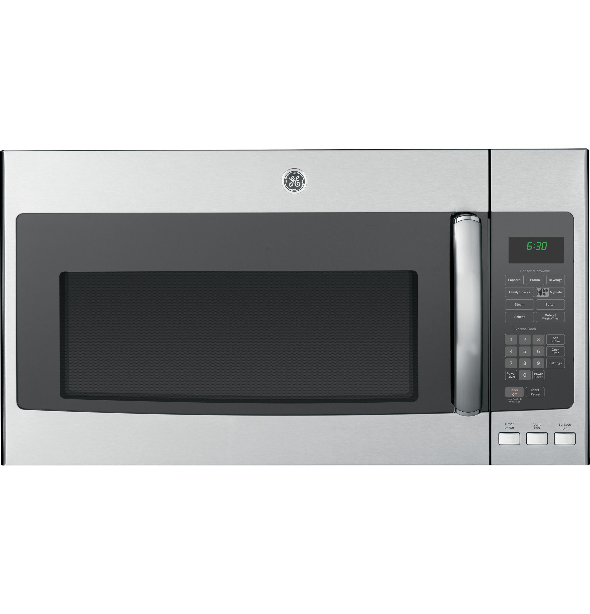 Pnm9196sfss Ge Profile Series 1 9 Cu Ft Over The Range Microwave Oven With Recirculating Venting Ge Range Microwave Stainless Steel Microwave Microwave