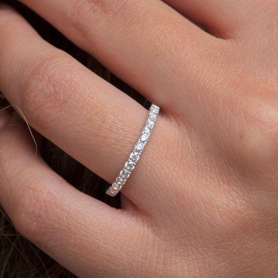 Diamond Eternity Band Eternity Ring Half Around Diamond Band Thin Diamond Ring Etern Eternity Band Diamond Diamond Rings Bands Diamond Wedding Rings Sets