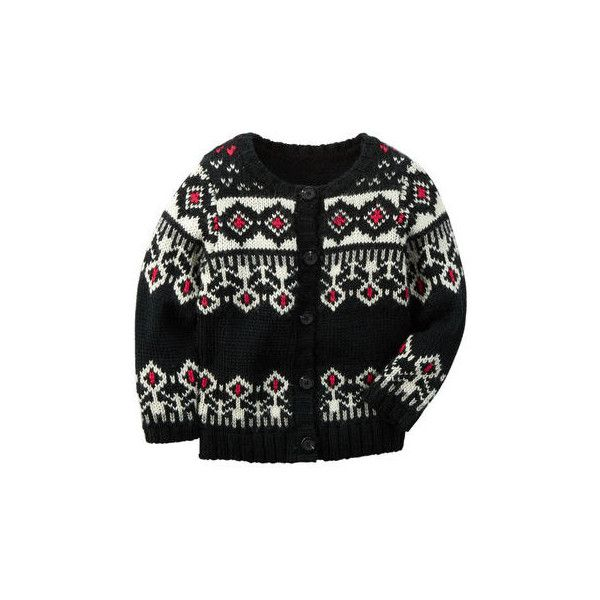 Fair Isle Cardigan (€14) ❤ liked on Polyvore featuring girls