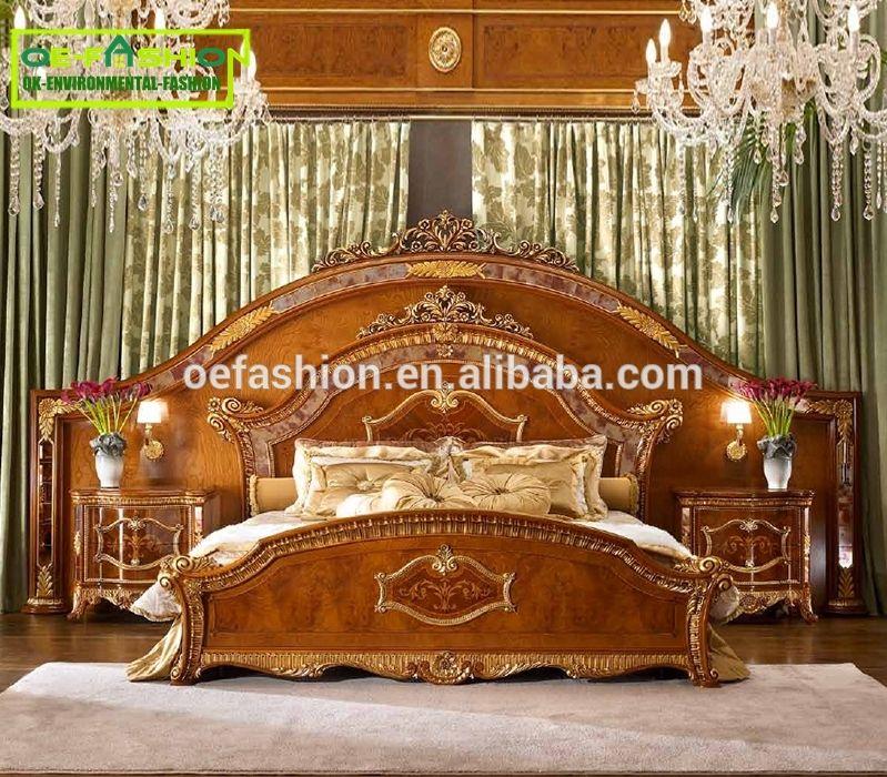 Custom Antique Reproduction Bedroom European Bedroom Furniture Set