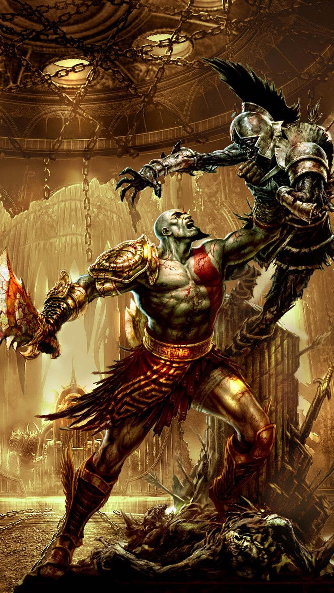 Iphone 6 Plus Wallpaper In 2019 Kratos God Of War God Of
