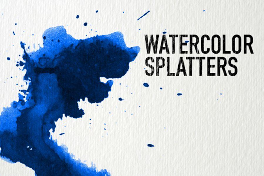 32 Watercolor Splatter Texture Free Version Free Design Data