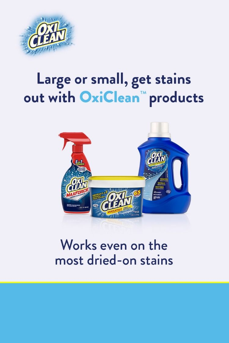 Use Oxiclean To Remove Tough Stains Big And Small Spot Treat