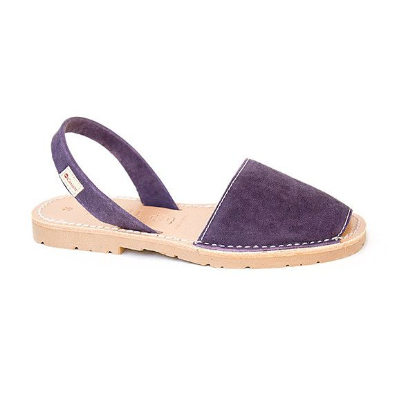 Castell Purple Leather Sandal ($65) ❤ liked on Polyvore featuring shoes, sandals, plus size, purple sandals, ankle tie sandals, leather shoes, leather footwear and leather ankle strap shoes