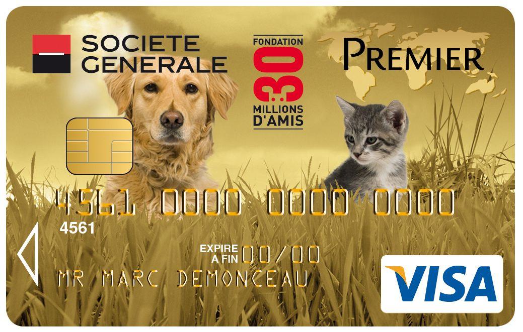 Carte Visa Premier Societegenerale 30 Millions D Amis Chien