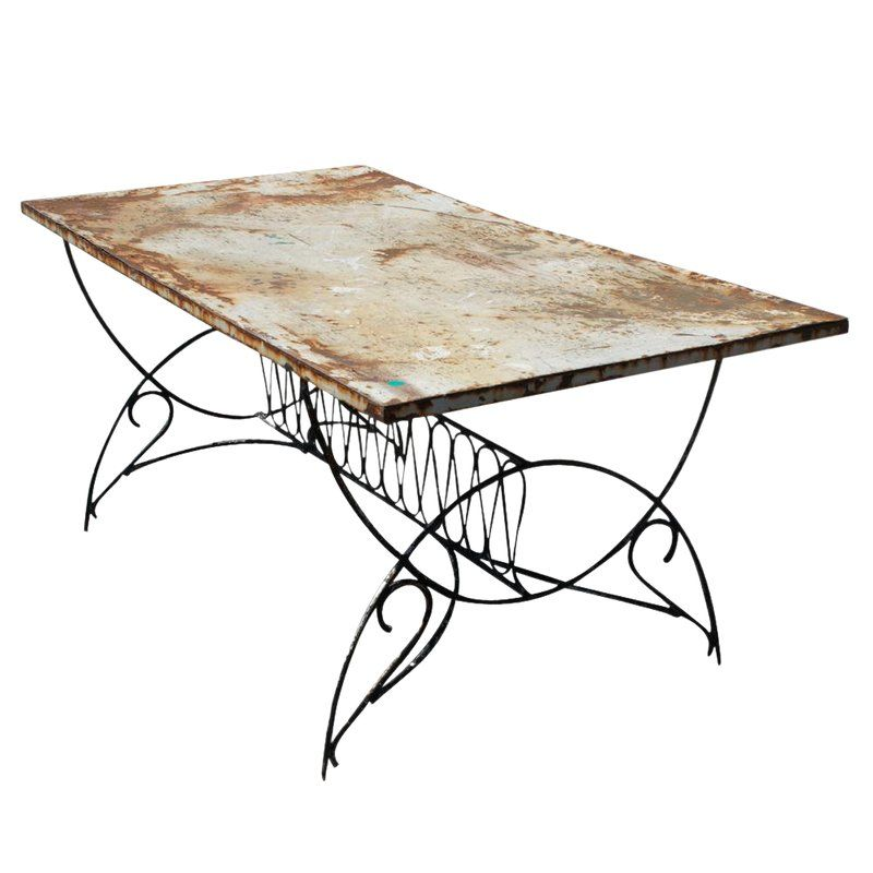 vintage art deco metal outdoor patio dining table products rh pinterest com
