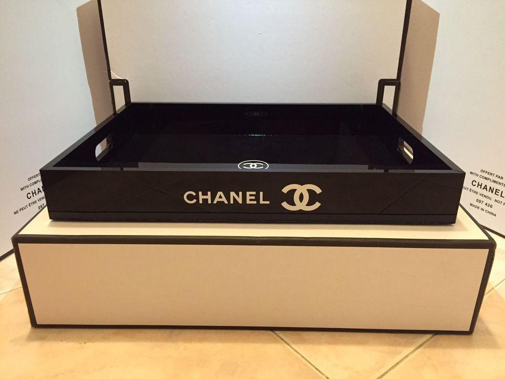 Chanel vip gift extra large vanity tray make up box