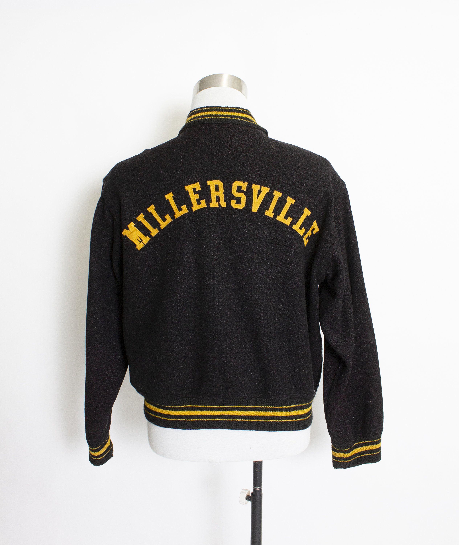 Vintage 1950s Letterman Jacket Wool Black Varsity Jacket Large 44 Varsity Jacket Letterman Jacket Varsity Jacket Outfit