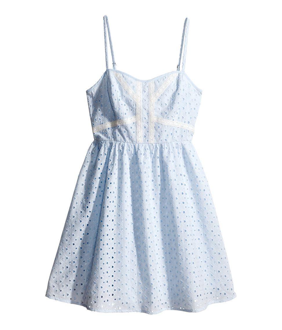 Eyelet lace dress. #HMPastels #Summer