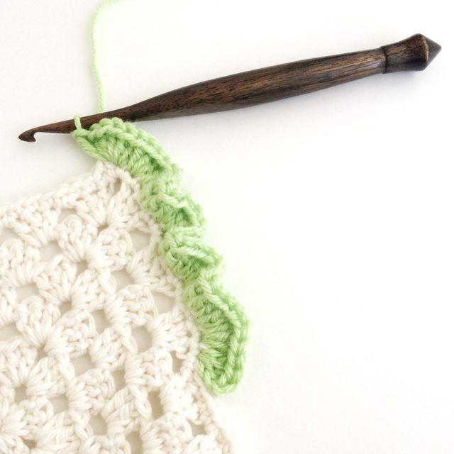 How to Crochet Ruffle Edges | Love | Pinterest | Corner, Stitch and ...