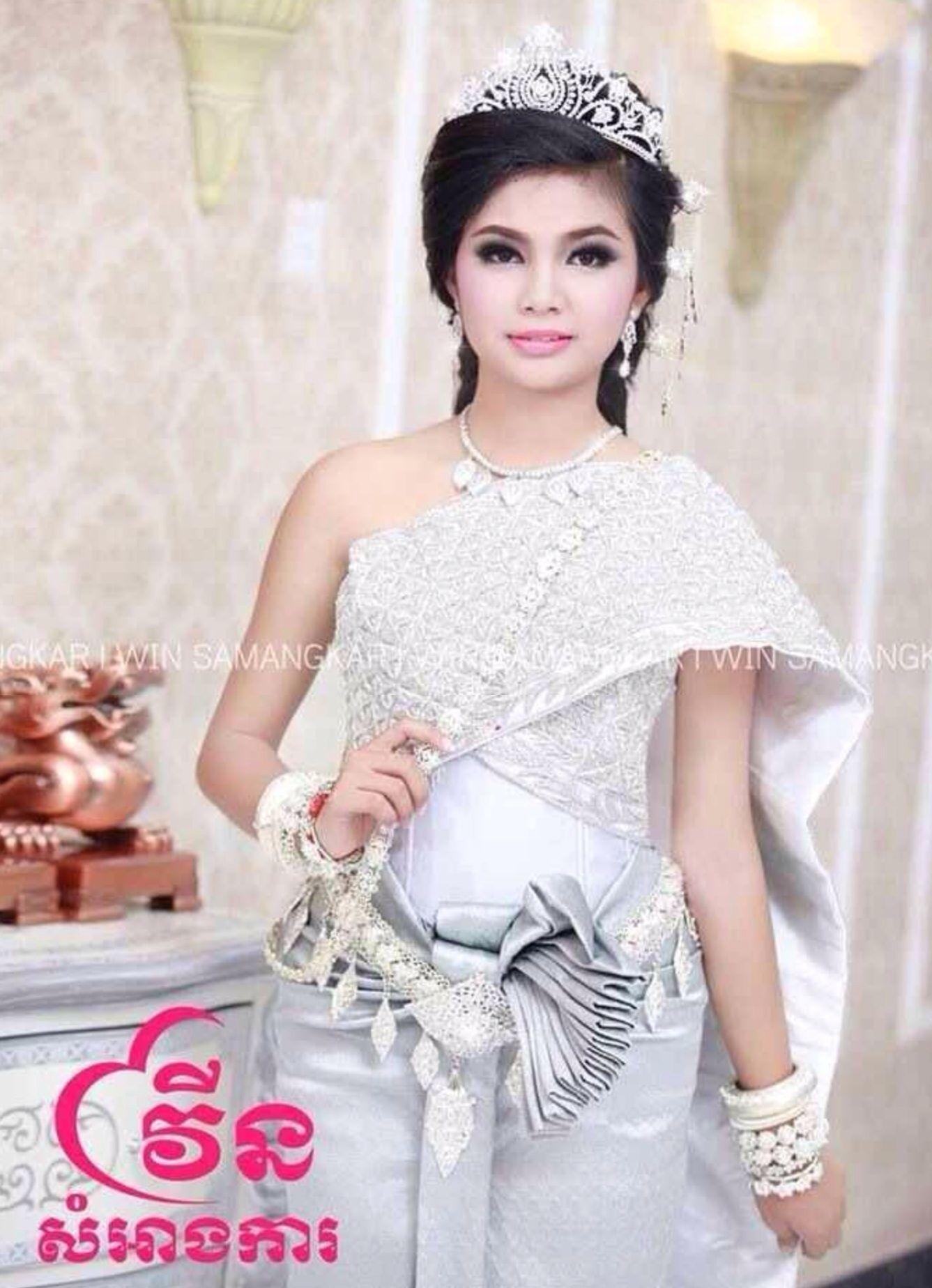 Khmer wedding dress   Wedding   Pinterest   Khmer wedding, Thai ...