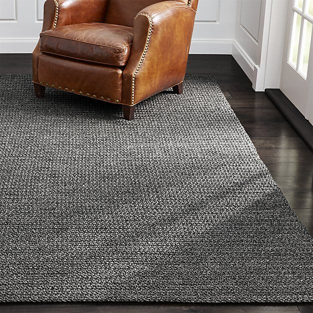 Salome Charcoal Grey Indoor Outdoor Rug Crate And Barrel