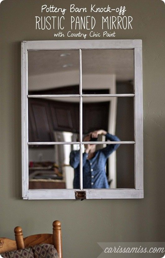 Turn An Old Window Into A Character Rich Mirror Pottery