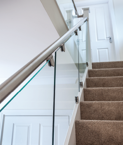 Stairfurb Bespoke Glass Balustrade Systems Glass Balustrade Stair Lights Stair Kits