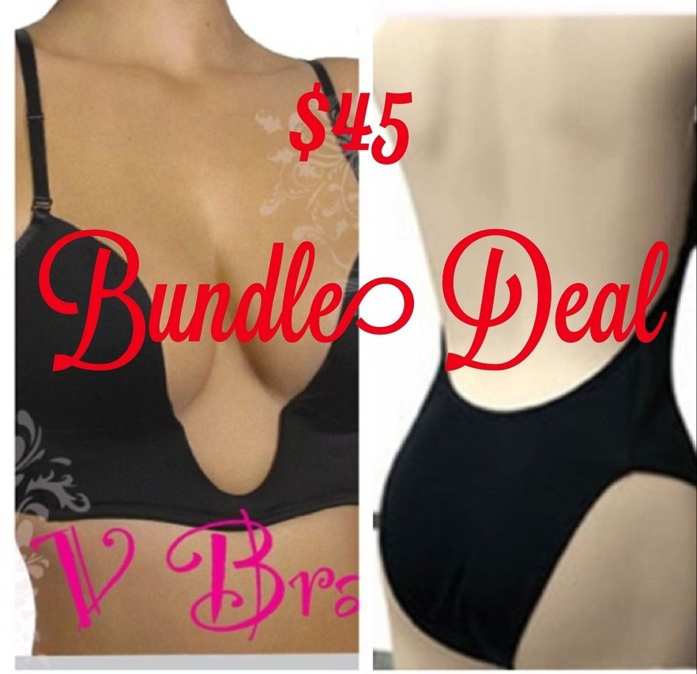 d4fb7d9387398 This is the hottest item on the market. The Deep Plunge V-Bra with insert  Pockets has convertible straps and can be worn as conventional