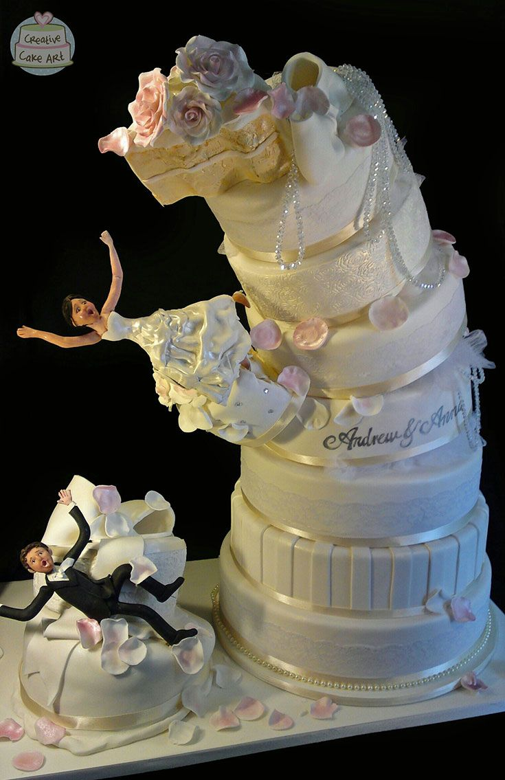 wedding cakes falling over dramatic falling wedding cake cakes featured on 24342