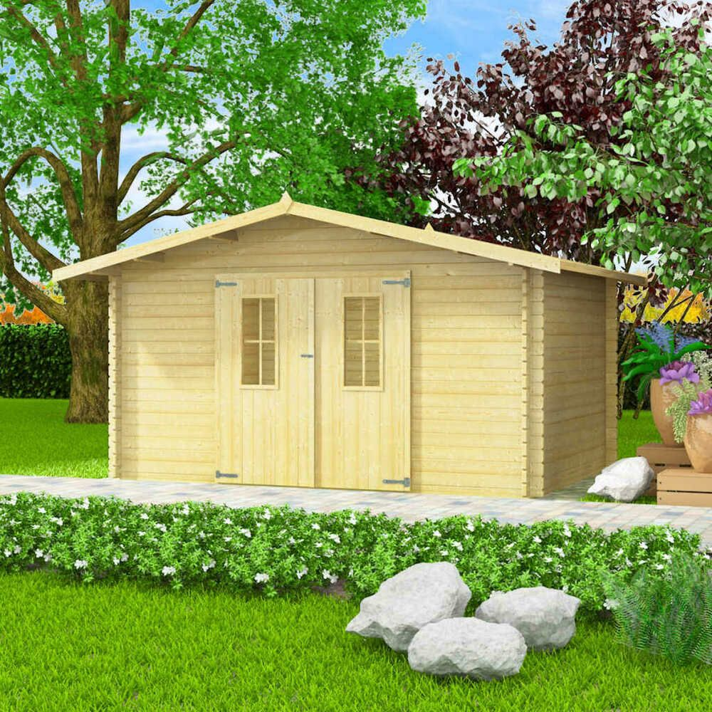 eBay Sponsored vidaXL Massivholz Gartenhaus 34mm 4x3m