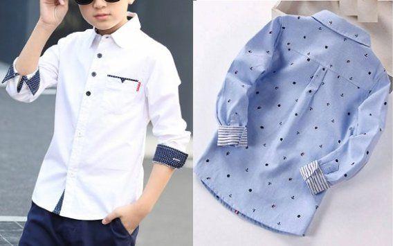 a68dd2f5e0 Patrón camisa infantil para niño