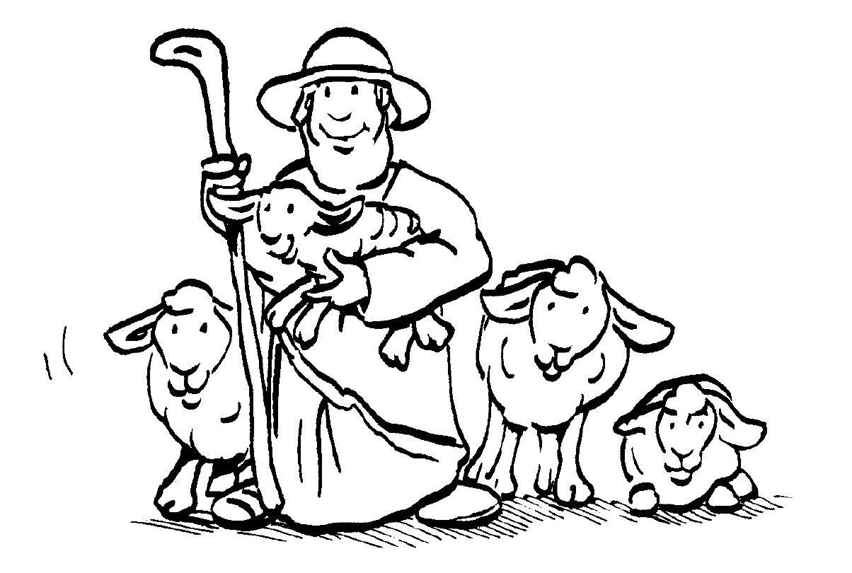 ausmalbilder bibel 02 | Kindergottesdienst | Pinterest | Hirte ...