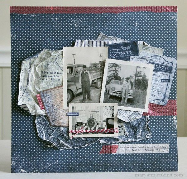 a heritage scrapbook page that i actually can tolerate