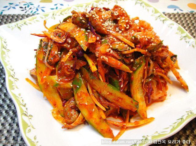 저칼로리 실곤약으로 사랑받은 실곤약골뱅이무침*^^* :: 김진옥 요리가 좋다