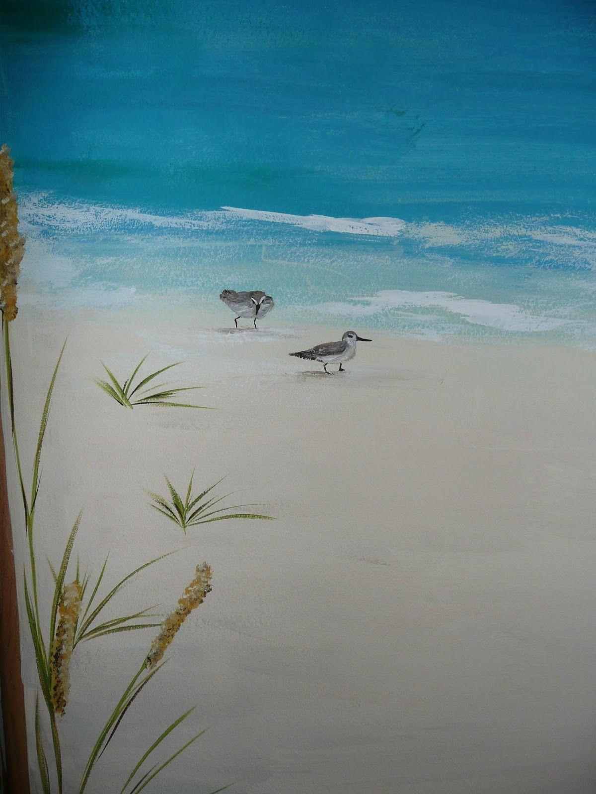 beach scene wall murals - google search | painting ideas | pinterest